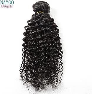 nayoo® Brazilian Virgin Hair Kinky Curly brasileño pelo humano tejido 3paquetes 8un profundo brasileño Wave Curly Hair Productos