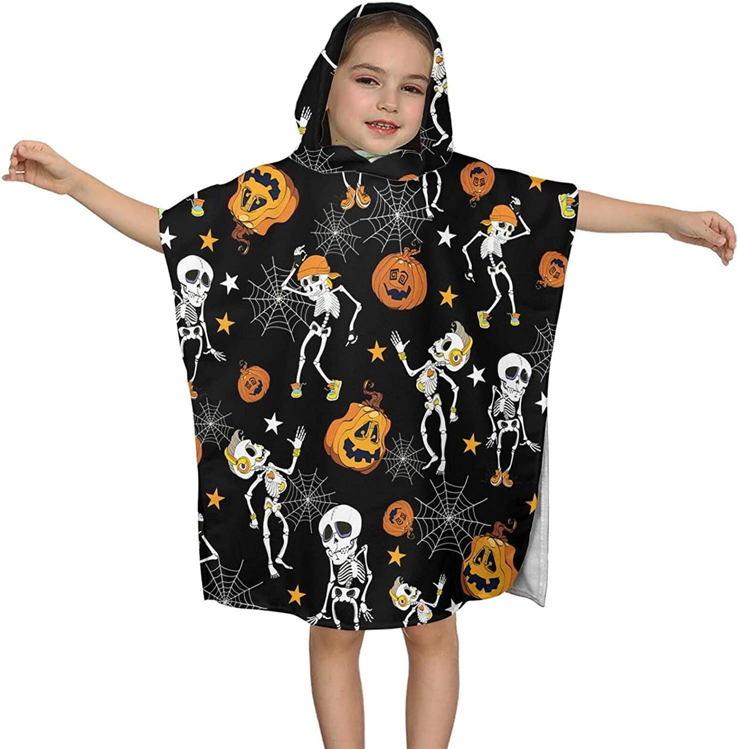Free shipping on posting reviews Hooded Bath Towel Skeletons Wrap and Save money Pumpkins Kids