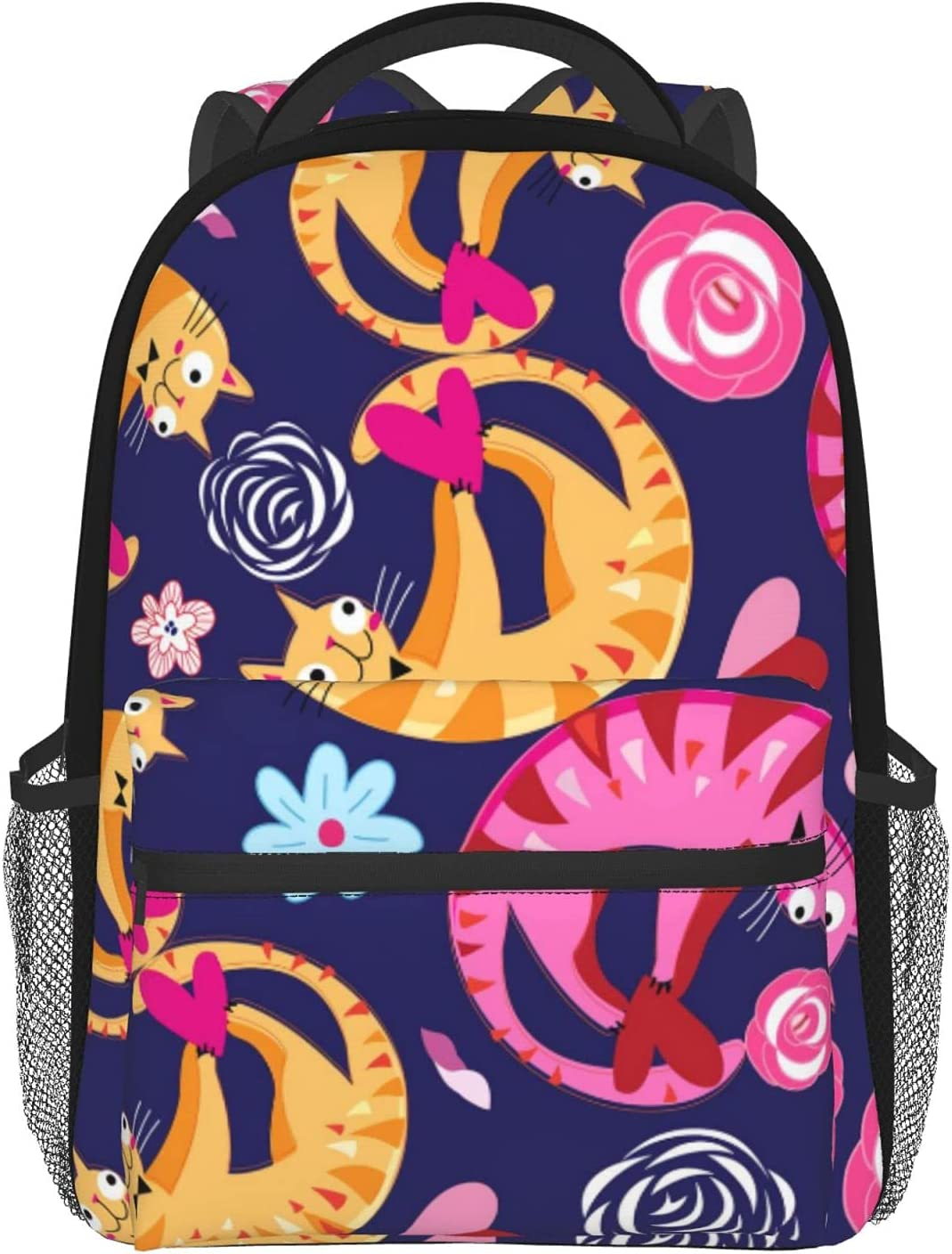 Lovers Cheap SALE Start Cats Floral Pattern School Mini Boo Max 48% OFF Backpacks Lightweight