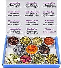 Tea Sampler - Flower Tea - Decaffeinated - Herbal - Chrysanthemum - Mint - Linden Flower- Saffron - Hibiscus - Lavender - Chamomile - Magnolia Flower - Rose - Chinese Tea - Loose Leaf Tea