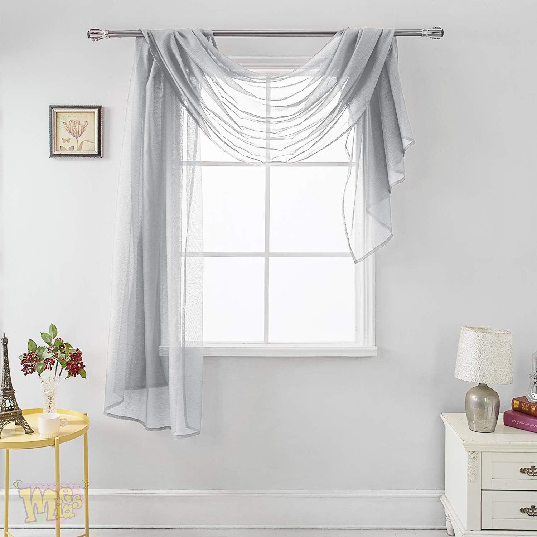 MEMIAS Luxury Window Sheer Elegant Washington Mall Scarf for Home Curtain Ranking TOP20 Voile