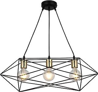 Homemania Lámpara de techo, metal, dorado, negro, 0