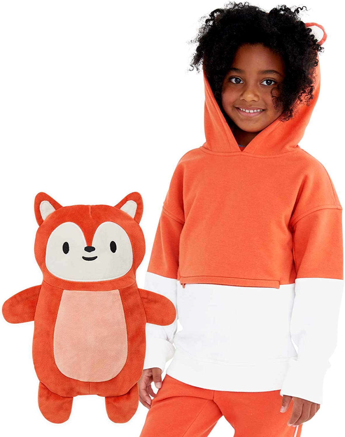 Cubcoats Kids Transforming 2 in 1 Pullover Sweatshirt with Hood and Convertible Soft Character Plushie