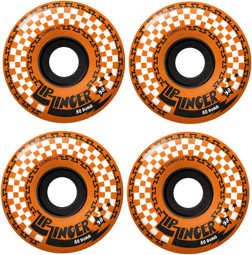 Krooked Skateboard Soft Cruiser Spring new work one after another Wheels New Shipping Free Zinger 80HD 58mm Zip Oran