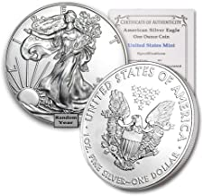 1986 - Present (Random Year) 1-Ounce American Silver Eagle Brilliant Uncirculated w/Our COA