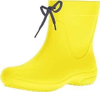 lemon rain boots