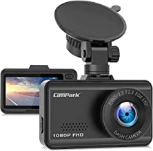 Campark Dash Cam 1080P FHD Car Dashboard Camera Recorder with 170° Wide Angle, Loop Recording, G-Sensor, Night Vision and 24 Hours Parking Monitor