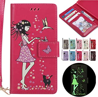 LEMORRY Huawei Y3 2 / Huawei Y3II Case Leather Flip Wallet Pouch Slim Fit Bumper Protection Magnetic Strap Stand Card Slot...