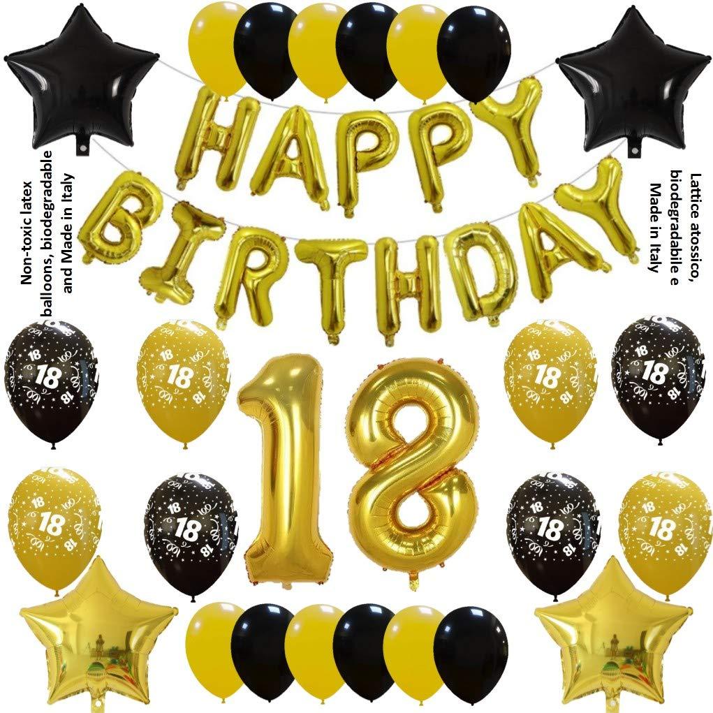 Shopama - Globos de cumpleaños 18 años 18 cumpleaños decoración ...