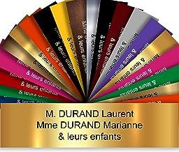 Zelfklevende pvc-brievenbusplaat, personaliseerbaar, 10 x 2,5 cm, verkrijgbaar in 21 kleuren (goud glanzend)