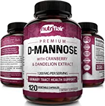 NutriFlair D-Mannose 1200mg, 120 Capsules - with Cranberry and Dandelion Extract - Natural Urinary Tract Health UTI Suppor...