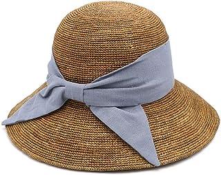 قبعة شمس Wxcgbtym ، قبعة شمس ، قبعة صيفية للنساء ، قبعة شمس من القش قبعات الشاطئ المسطحة ، قبعات السفر قبعة شمس (اللون: C)