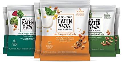 Off the Eaten Path Garden Harvest Nut & Veggie Trail Mix, Made with Real Veggies, Snacks for the Curious (6 ct., 1.5 oz. b...