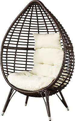 Amazon.com : SunVilla Outdoor Patio All-Weather Wicker Hanging Egg ...