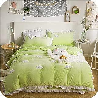 Purple 4 Pieces Kids Girl Bedding Set Cotton Childrens Bedroom Bed Comforters Geometric Urban Habitat Kids Trixie Twin//Twin XL Comforter Sets for Girls