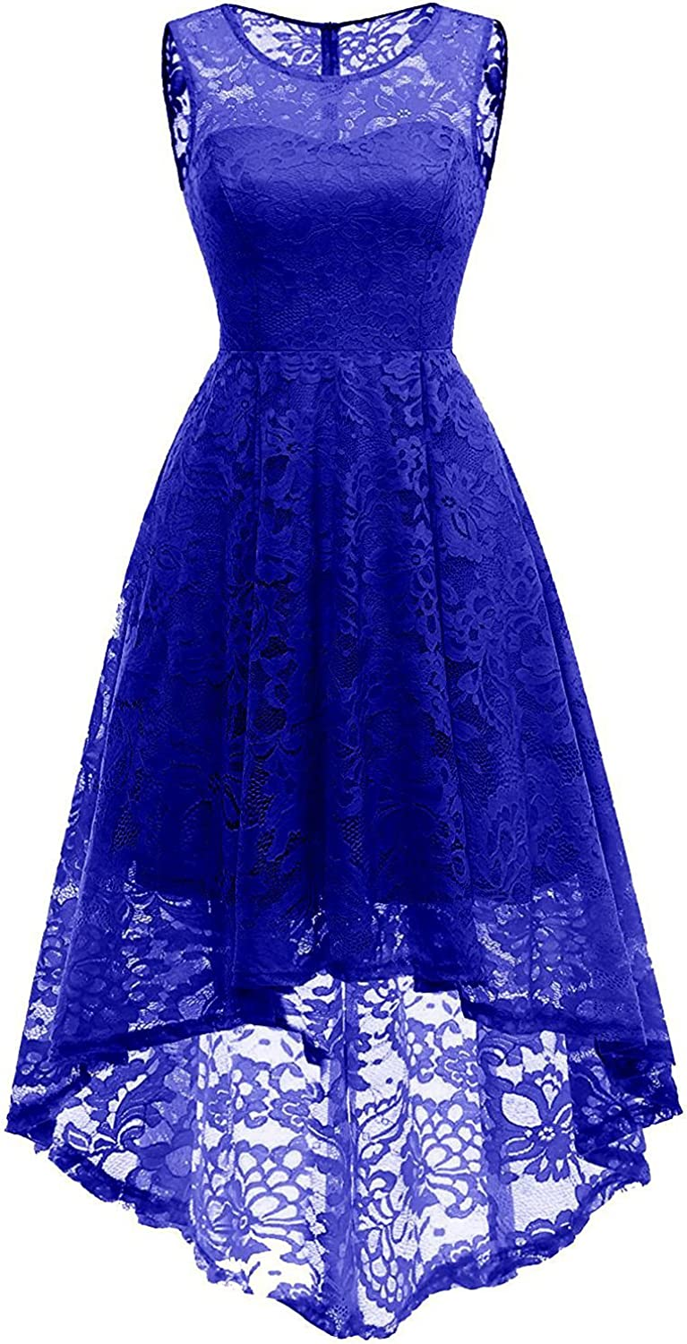 CHOiES record your inspired fashion Women's Sleeveless Hilo Lace Bridesmaid Dress Floral Lace Cocktail Party Dress