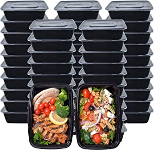 Meal Prep Containers, 50 Pack (750ML/ 26 OZ) Food Storage