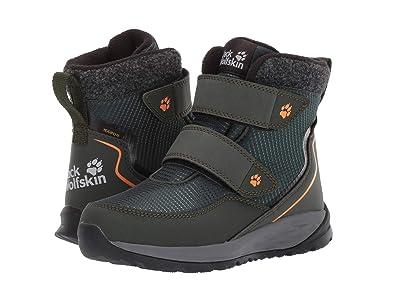 Jack Wolfskin Kids Polar Bear Texapore Mid VC (Toddler/Little Kid/Big Kid) (Dark Green/Grey) Boys Shoes