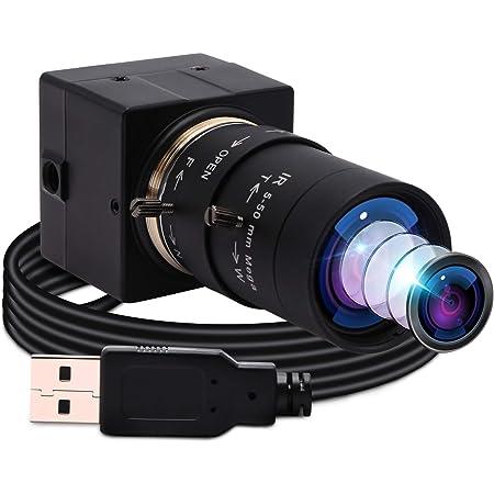 ELP 光学ズームWebカメラ 200万画素 低照度 ウェブカメラ 5-50mm可変焦点レンズ Web会議用UVCカメラPCサポートOTG Sony IMX322センサー 0.01Lux Webかめら Windows/Mac/Linux/Android/Raspberry pi対応 1080P 30FPS USBパソコン用カメラ 外付けカメラUSBFHD06H-SFV(5-50)