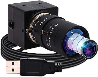 ELP 500万画素 ウェブカメラ 光学ズーム webカメラ パソコン用 調節可能な5-50 mm可変焦点レンズ Aptina CMOS MI5100 センサーミニカメラ プラグアンドプレイWeb会議用カメラサポートOTG Mac/Window...