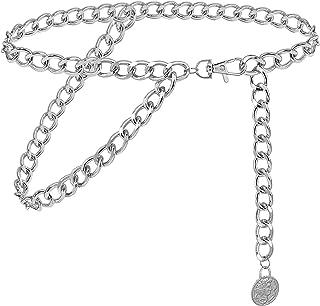 أحزمة سلسلة مزدوجة الطبقات للنساء من غلامورستار حزام خصر معدني كوبي مكتنزة سلسلة جسم رائعة