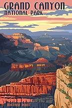 Grand Canyon National Park, Arizona - Mather Point (9x12 Art Print, Wall Decor Travel Poster)