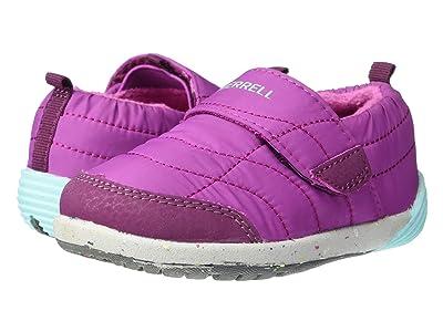Merrell Kids Bare Steps Hut Moc (Toddler) (Berry) Girls Shoes