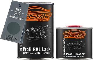 TRISTARcolor RAL 7016 Anthrazitgrau seidenmatt 2K Autolack 1,5 Liter / 1500 ml Dose inkl. Härter