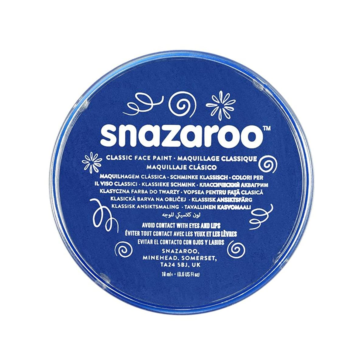 Snazaroo 1118344 Classic Face Paint, 18ml, Royal Blue