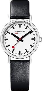 Mondaine - Classic- Reloj de Cuero Negro para Mujer, A658.30323.16SBB, 30 MM
