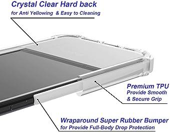 Noii for iPhone 8 Plus case iPhone 7 Plus case, Clear Hybrid Drop Protection case,[TPE Super Rubber Bumper] Shockproo...