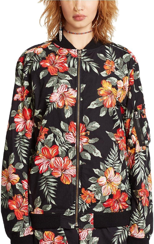 Denim & Supply Ralph Lauren FloralPrint Baseball Jacket L