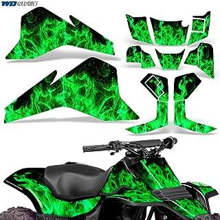 Suzuki LT80 87-06 Graphic Kit ATV Decals Sticker Quadsport LT 80 FLAMES GREEN