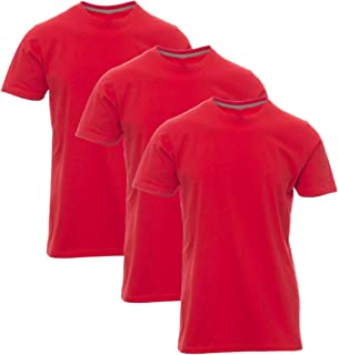 STYLER STREET 3 T-Shirts Pack Men's Plain 100% Cotton Short Sleeves.