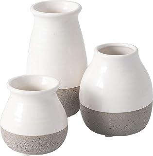 Sullivans Small Ceramic Vase Set, Rustic Home Decor, Great for Centerpieces, Kitchen,..