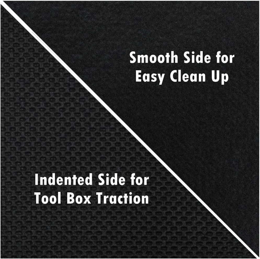 Non-Slip Solid Surface By Mod-Box Professional Grade High Grip Tool Box Drawer Liner 18Deep x 30Long 18 Inches x 30 Feet Heavy Duty