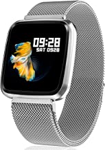 2019 Version Smart Watch, Sport Waterproof Smartwatch, Fitness Tracker with Heart Rate,Blood Oxygen,Sleep Monitor,Message Call Reminder Smart Watch for Men Women Kids, Compatible for iPhone/Android