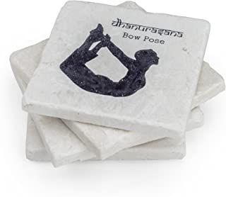 Yoga Gifts for Yoga Fans - Set of 4 Yoga Poses on Stone Coasters