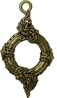 Phaya Nak Naga Dragon Ouroboros Naga Tail Infinity Thai Buddha Amulet Hanger Buddha Pendant, Charm Love Attraction, Lucky Powerful