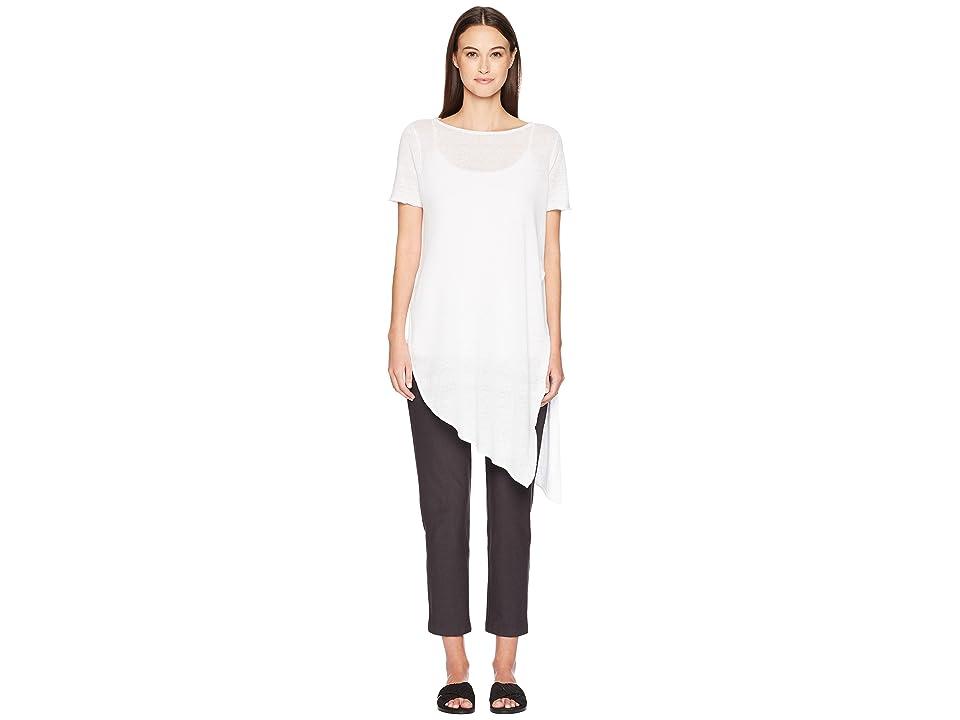 Eileen Fisher Bateau Neck Tunic (White) Women