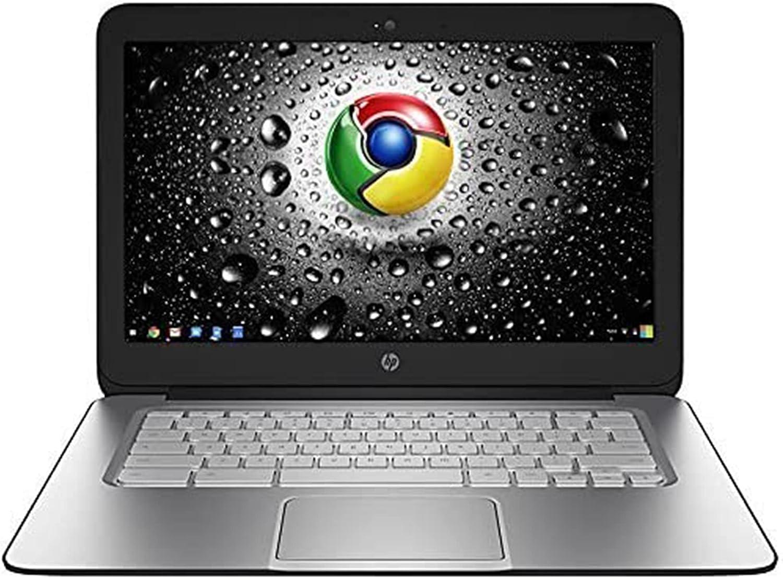 HP 14in HD LED Backlit Chromebook Laptop, Intel Celeron 2955U, 4GB RAM, 16GB eMMC, USB 3.0, Bluetooth, Wi-Fi, Webcam, Chrome OS (Renewed)