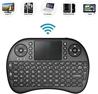 Remote Control with Rechargable Li-ion Battery for PANASONIC TX-40EX700B 40 Smart 4K Ultra HD HDR LED TV Smart TV 2.4GHz Mini Mobile Wireless Keyboard with Touchpad