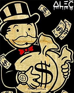 Artcgc Alec Monopoly Wall Art Home Wall Decorations for Bedroom Living Room Oil Paintings Canvas Prints 2 Sizes-88
