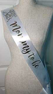 Twinkle Little Star Baby Shower Sash for Mom to Be White & Gold with Rhinestone Pin Banner