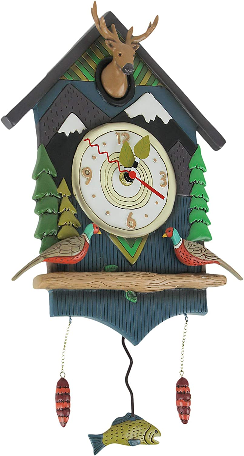 Allen Designs Mountain Time Lodge Max National products 51% OFF Theme Pendulum Decorative Wall