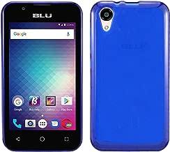 BLU Advance 4.0 L3 A110U Case w. Soft Gel Silicone TPU [Anti slip] [Slim Cushioned] [Lightweight Bumper] Protective Case (TPU Blue)
