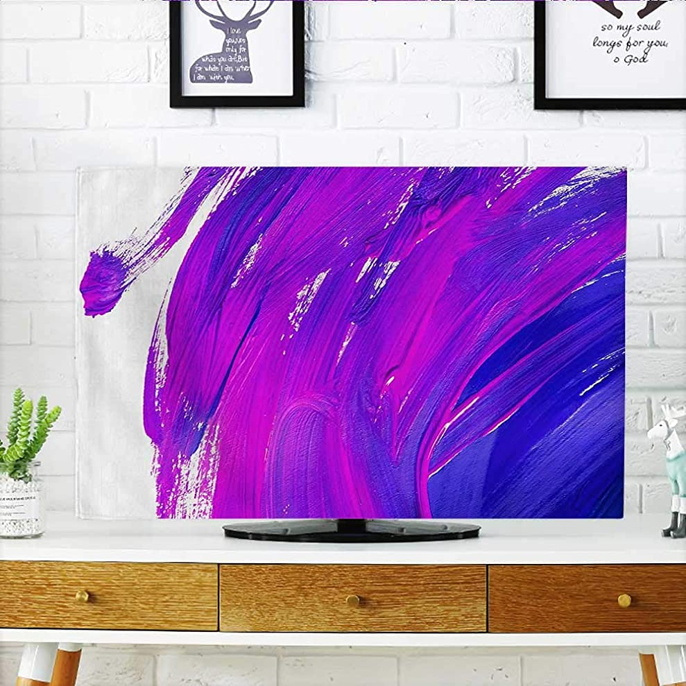 L-QN Protect Your TV listic Brush Strokes of Oil Paint Themed Bright Color Effects Modernatis Protect Your TV W35 x H55 INCH/TV 60