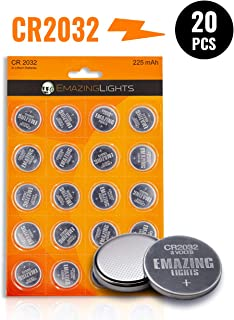 EmazingLights CR2032 3V Lithium Battery (20 Pack) Lithium Button Cell Batteries
