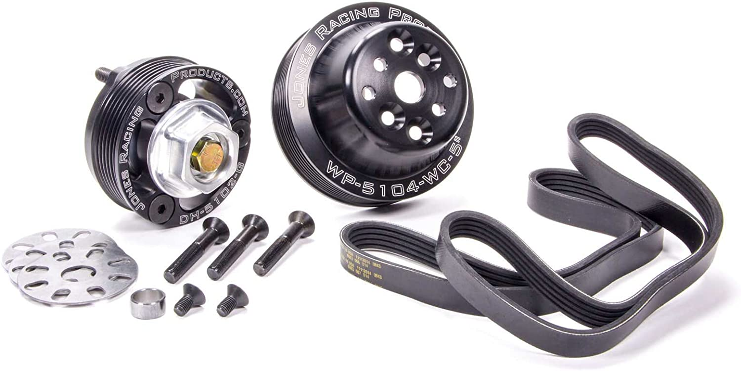 Jones Racing Products Pulley Kit Bl Aluminum Long-awaited Serpentine Lowest price challenge 5 Rib