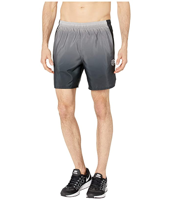 Nike Challenger Shorts 7 PR (Gunsmoke/Black/Reflective Silver) Men